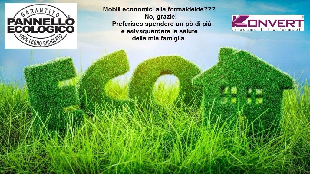 Mobili ecologici green senza formaldeide da Konvert Arredamenti Trasformabili