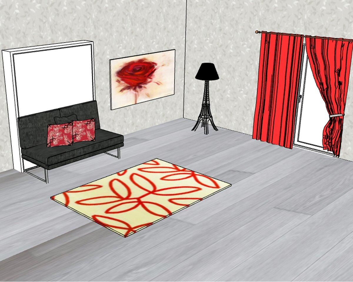 Letto a scomparsa matrimoniale con divano in offerta in pronta consegna Houdini Colombo 907
