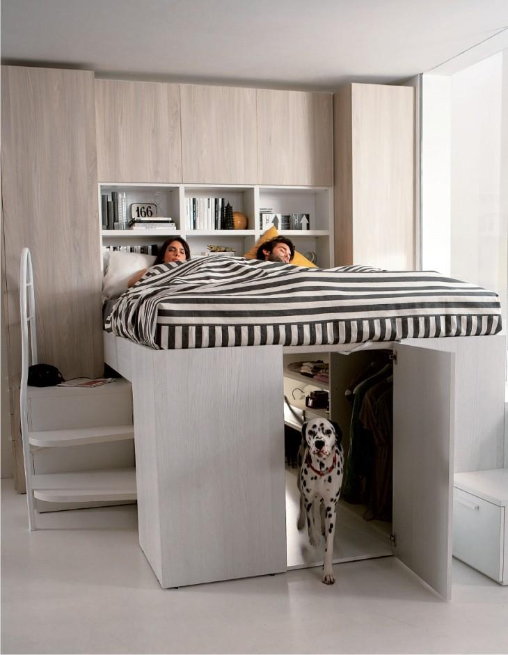 Dielle Modus Contanier: il letto contenitore che si trasforma in cabina armadio