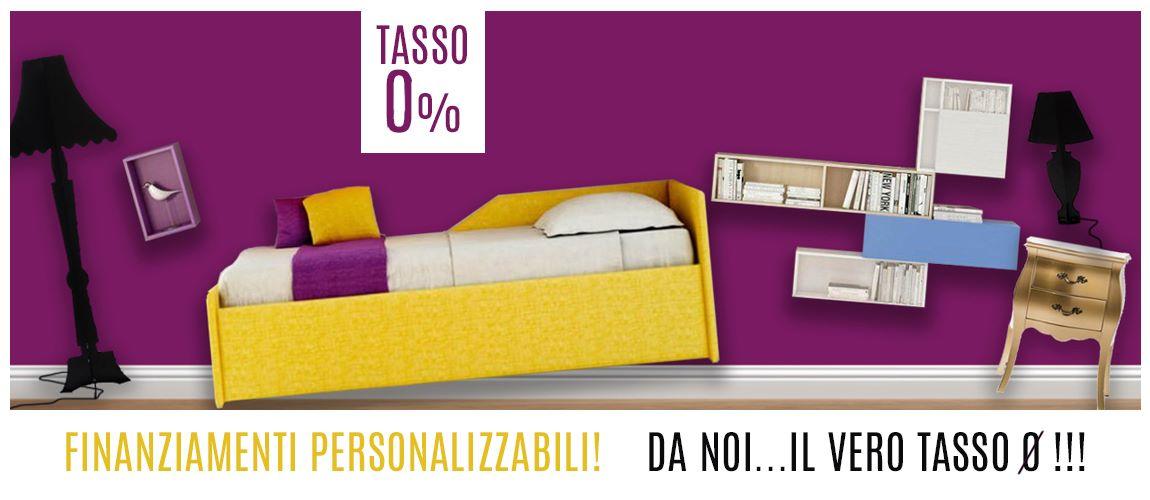 Acquista i tuoi mobili con Finanziamenti a Tasso Zero Ø