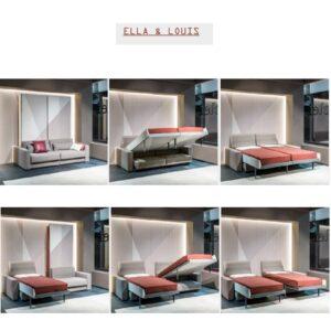Letto a scomparsa con divano trasformabile ELLA & LOUIS Clei