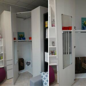 Composizione armadi in offerta da outlet a Torino, completa di cabina armadio capiente