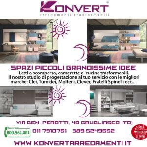 Arredare piccoli spazi a Torino con i mobili trasformabili