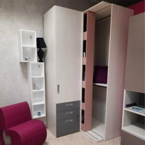 OUTLET Armadio con cabina libreria COVERT Mistral