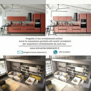 Progettazione e vendita online di arredamento da Konvert Arredamenti a Torino