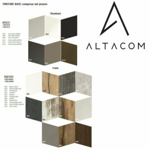 Finiture comprese nel prezzo tavolini trasformabili e consolle allungabili Altacom Torino