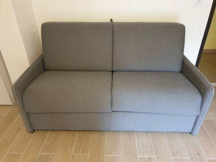 OUTLET Divano letto trasformabile con materasso H.16cm Mod. GLORIA